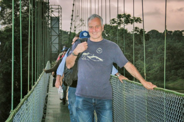 Photo Herb Raffaele on bridge